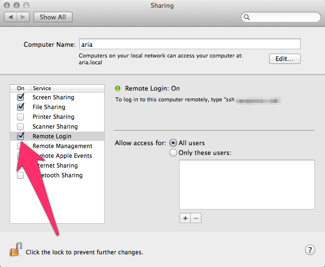 bleything net blog » SSH to Your Mac From (Almost) Anywhere